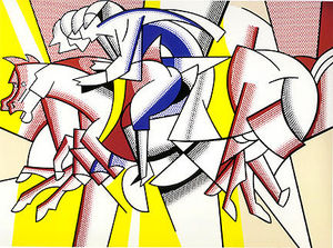 Roy Lichtenstein - The red horseman