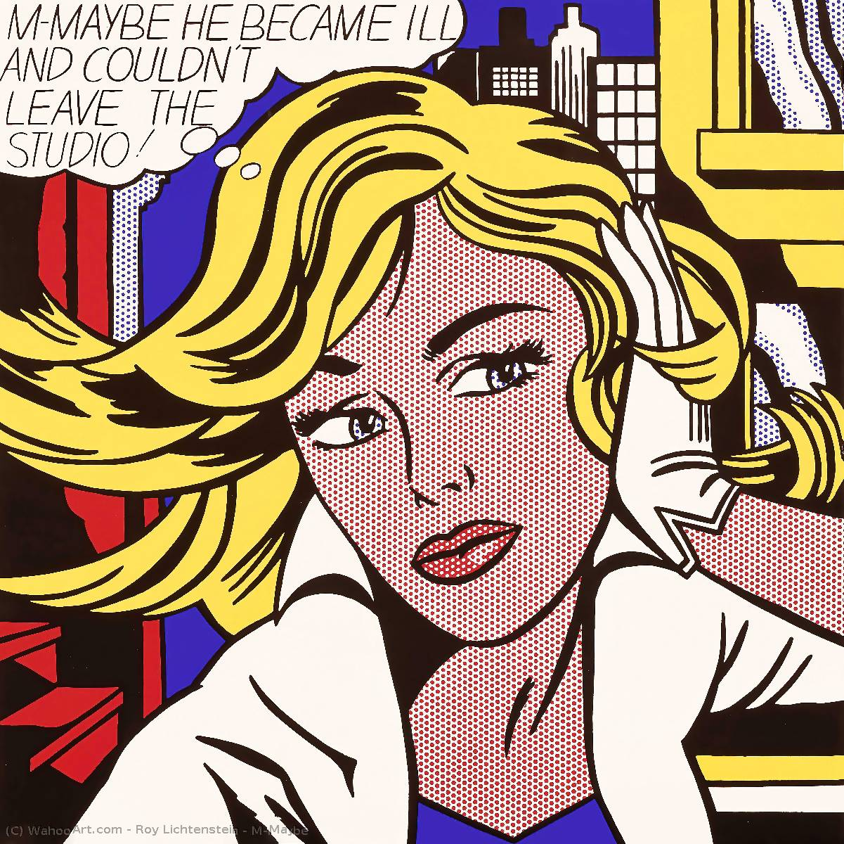 famous painting M-Maybe of Roy Lichtenstein
