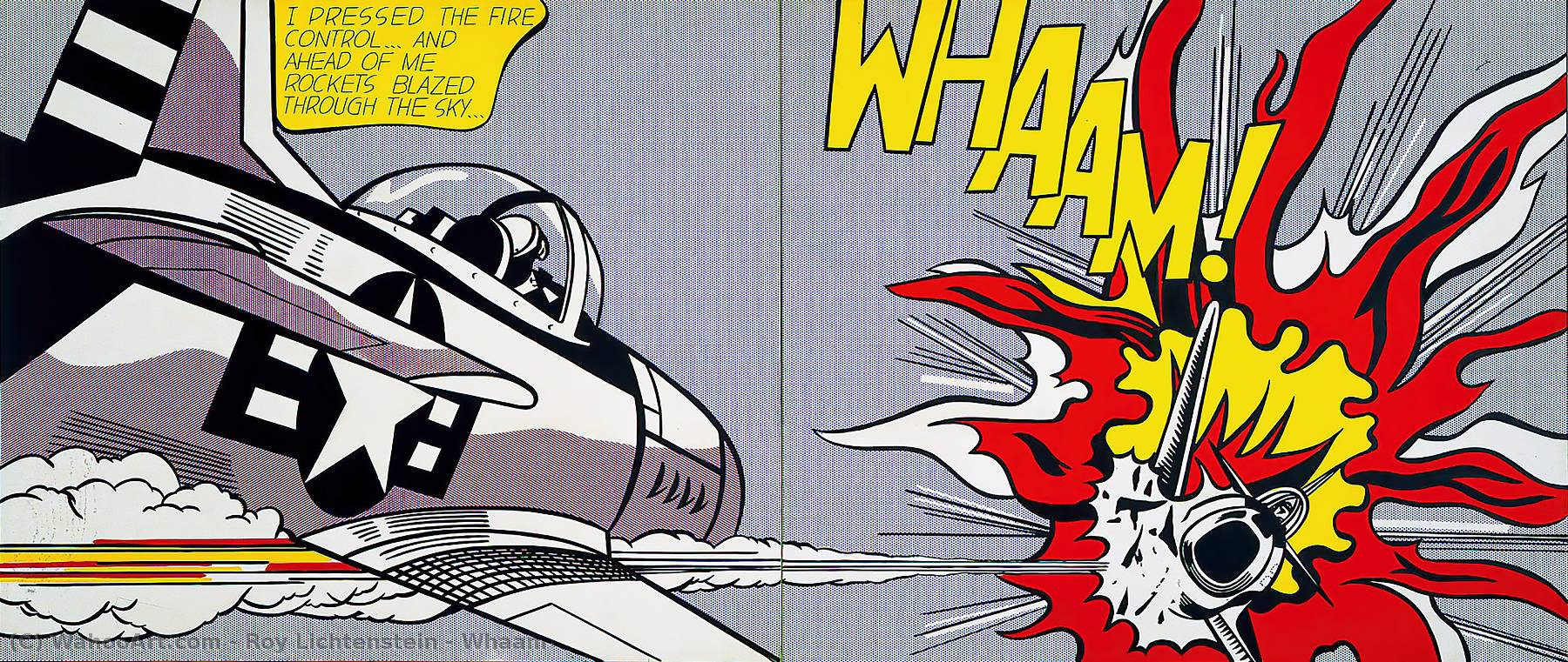 famous painting Whaam! of Roy Lichtenstein