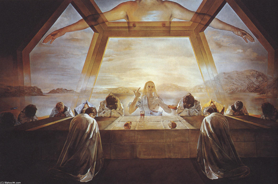 famous painting The Sacrament of the Last Supper of Salvador Dali