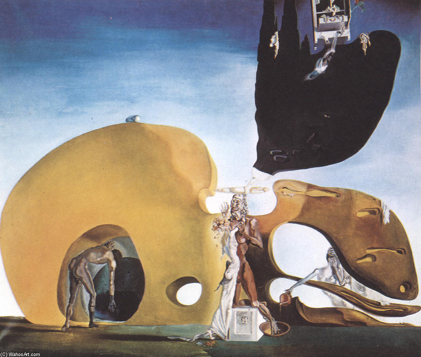 famous painting The Birth of Liquid Desires of Salvador Dali