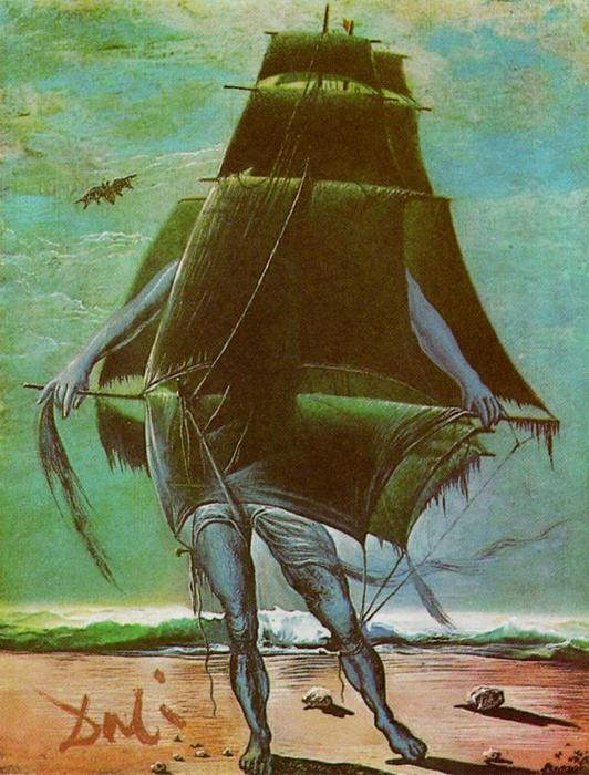 famous painting The Ship of Salvador Dali