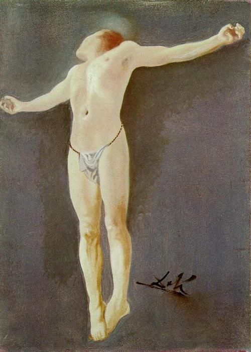 Buy Museum Art Reproductions : Crucifixion by Salvador Dali | AllPaintingsStore.com