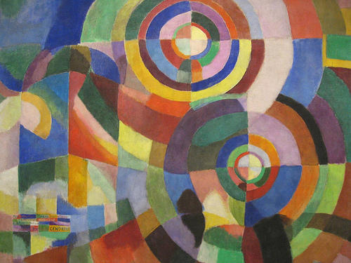 famous painting Electric prisms of Sonia Delaunay (Sarah Ilinitchna Stern)