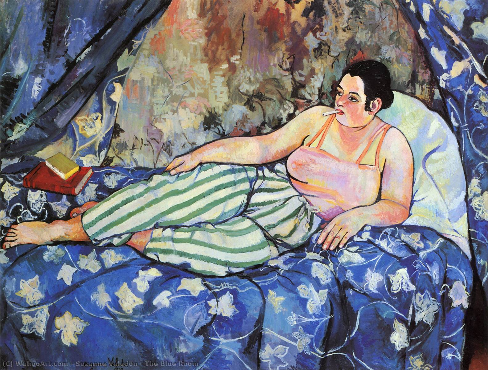 famous painting The Blue Room of Suzanne Valadon