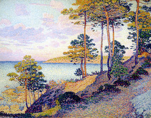 Theo Van Rysselberghe - The Pointe St. Pierre at St. Tropez