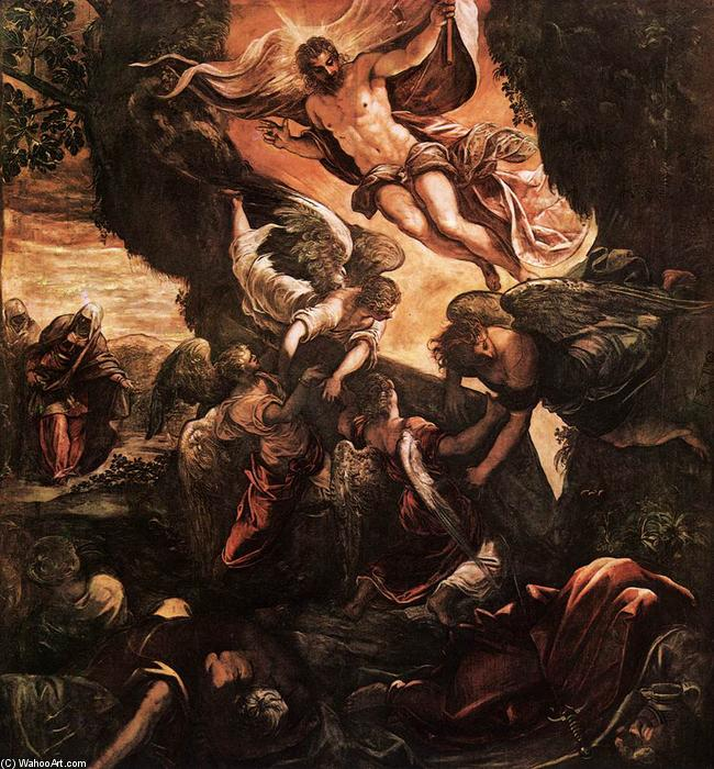 famous painting The Resurrection of Christ of Tintoretto (Jacopo Comin)