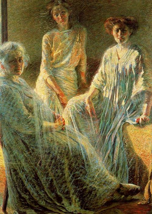Order Reproductions | Three Women by Umberto Boccioni | AllPaintingsStore.com