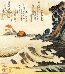 Utagawa Kuniyoshi - View of Mt. Fuji