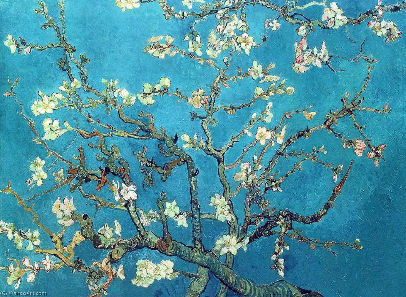 famous painting Branches with Almond Blossom of Vincent Van Gogh