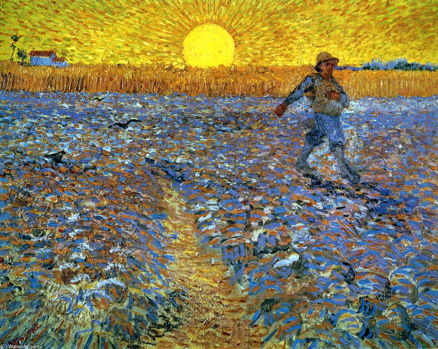 famous painting The Sower (Sower with Setting Sun) of Vincent Van Gogh
