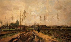 Vincent Van Gogh - Landscape with a Church and Houses