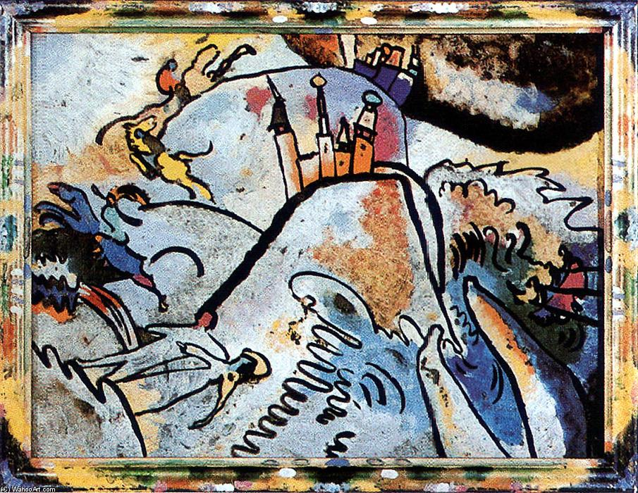 famous painting Glass Painting with the Sun (Small Pleasures) of Wassily Kandinsky
