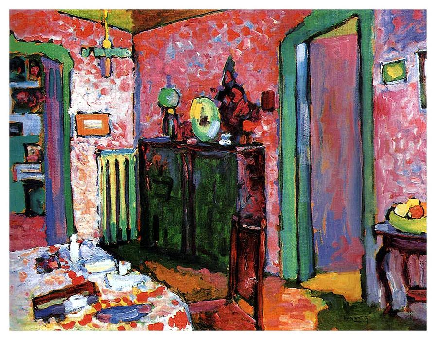 famous painting Interior (My dining room) of Wassily Kandinsky