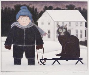 Will Barnet - The sled