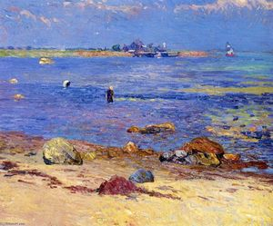 William James Glackens - Treading Clams, Wickford