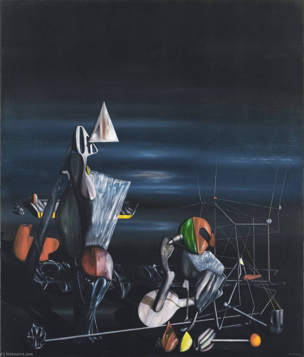famous painting Slowly Toward The North of Yves Tanguy