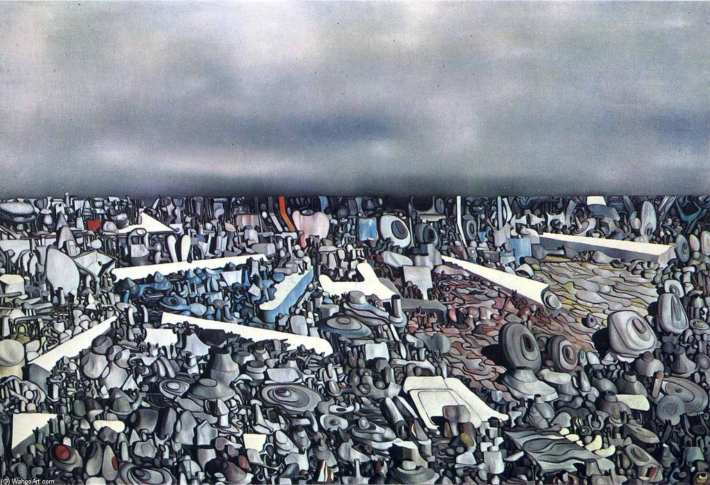 famous painting Multiplicatiion of the Arcs of Yves Tanguy