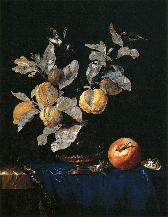 famous painting Still-Life with Fruit of Willem Van Aelst