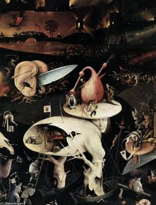 Hieronymus Bosch - Triptych of Garden of Earthly Delights (detail) (16)