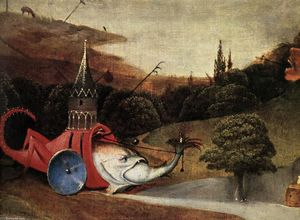 Hieronymus Bosch - Triptych of Temptation of St Anthony (detail) (10)