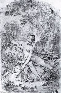 François Boucher - Study for The Bath of Venus