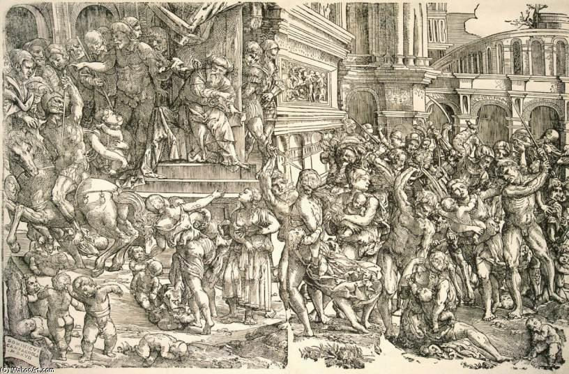 famous painting Massacre of the Innocents of Domenico Campagnola