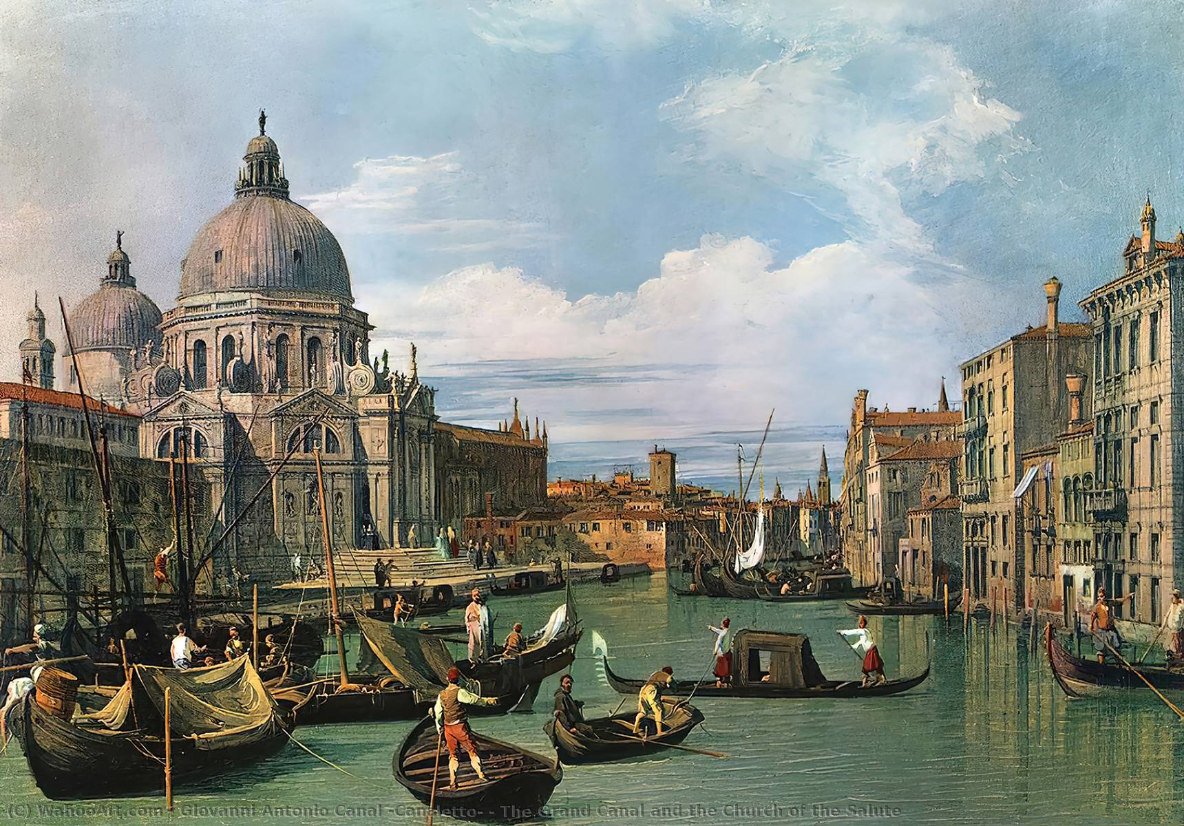 famous painting The Grand Canal and the Church of the Salute of Giovanni Antonio Canal (Canaletto)