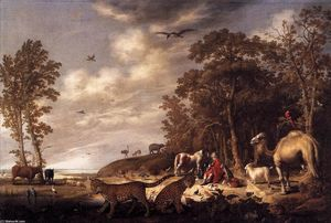 Aelbert Jacobsz Cuyp - Orpheus with Animals in a Landscape