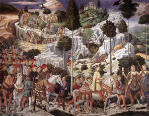 Benozzo Gozzoli - Procession of the Youngest King (east wall)