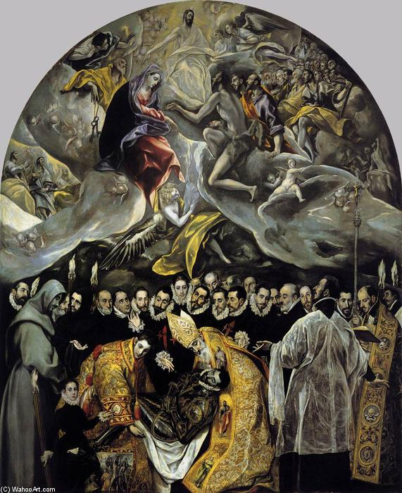 famous painting The Burial of the Count of Orgaz of El Greco (Doménikos Theotokopoulos)