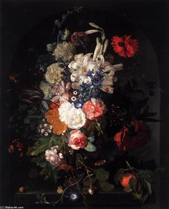 Jan Van Huysum - Bouquet of Flowers