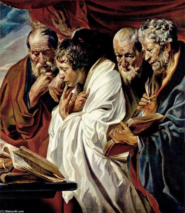 famous painting The Four Evangelists of Jacob Jordaens