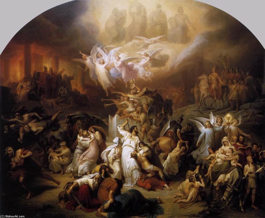 famous painting The Destruction of Jerusalem by Titus of Wilhelm Von Kaulbach