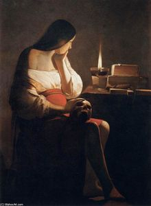 Georges De La Tour - Magdalen of Night Light