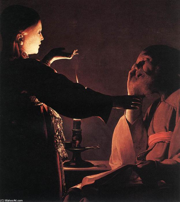 famous painting The Dream of St Joseph of Georges De La Tour
