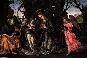 Filippino Lippi - The Nativity with Two Angels