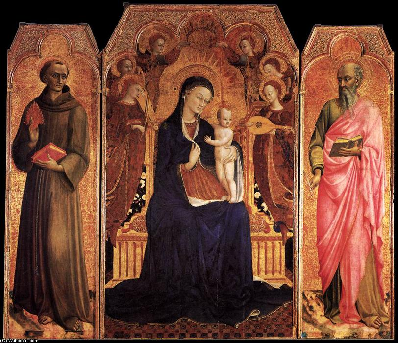 famous painting Virgin and Child with Saints of Sassetta (Stefano Di Giovanni)