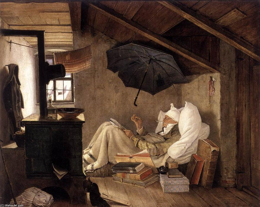 famous painting The Poor Poet of Carl Spitzweg