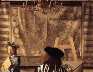 Jan Vermeer - The Art of Painting (detail)