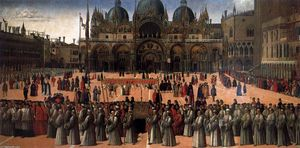 Gentile Bellini - Procession in Piazza San Marco