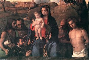 Giovanni Bellini - Madonna and Child with Four Saints and Donator
