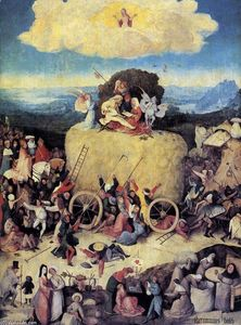 Hieronymus Bosch - Triptych of Haywain (central panel)