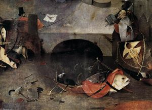 Hieronymus Bosch - Triptych of Temptation of St Anthony (detail) (22)