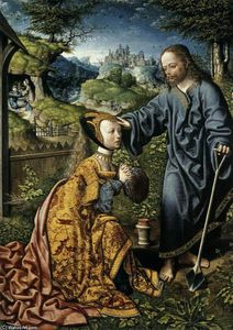 Jacob Cornelisz Van Oostsanen - Christ Appearing to Mary Magdalen as a Gardener