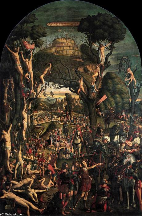 famous painting Crucifixion and Apotheosis of the Ten Thousand Martyrs of Vittore Carpaccio