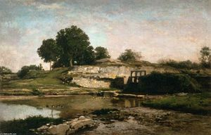 Charles François Daubigny - The Sluice-gate at Optevoz (Isère)