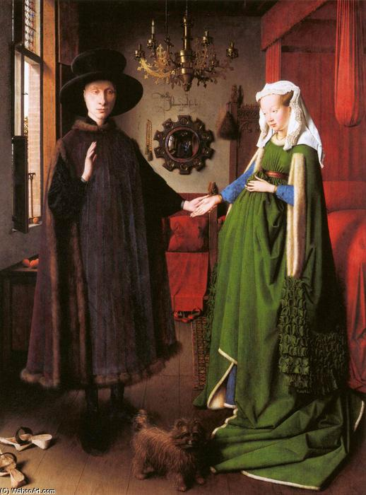 Order Reproductions | Portrait of Giovanni Arnolfini and his Wife by Jan Van Eyck | AllPaintingsStore.com