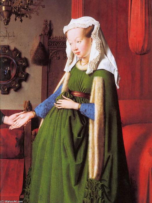 famous painting Portrait of Giovanni Arnolfini and his Wife (detail) (12) of Jan Van Eyck
