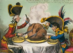 James Gillray - The Plum-Pudding in Danger